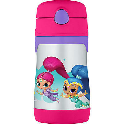 Thermos 10 Ounce Stainless Steel Straw Cup - Shimmer and Shine