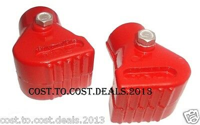 Vespa Px, 125, 150, 200, T5 & Classic Lml Red Alloy Stand Feet Pair Brand New