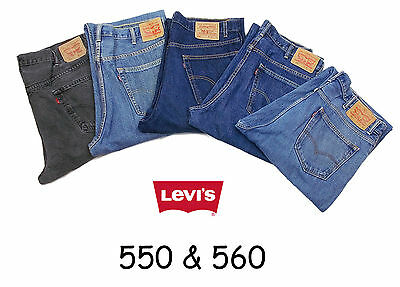 LEVIS 550 560 JEANS RELAXED LOOSE FIT W30 W31 W35 W36 W37 LEVI 550s 560s