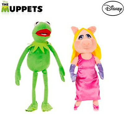 "Official Disney Muppets Most Wanted 12"" Cuddly Plush Toys Miss Piggy & Kermit"
