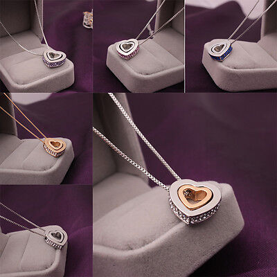 Fashion Women Pendant Heart Gold Necklace Party Wedding Gift Decoration