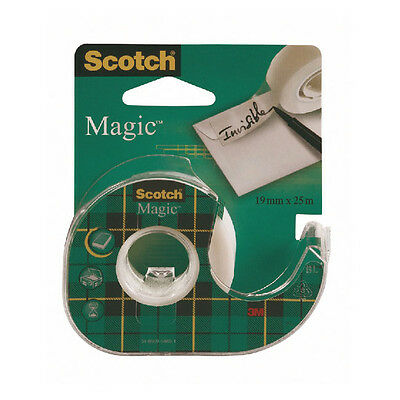 12 x SCOTCH KLAR MAGIE BAND MIT DISPENSER / 19mm x 25m / 8-1925D