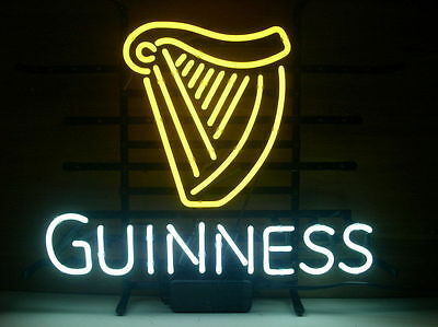 "Guinness Beer Lager Handmade Neon Sign 17""x14"""