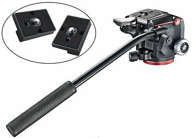 Manfrotto XPRO Fluid Head with Selector + Two Qr Plates for RC2 Connect Adapter