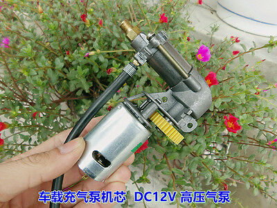 DC 12V Air Pump Portable High Pressure Electric Cylinder Car Emergency Tire Pump