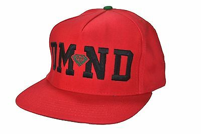 49bc22fb315 DIAMOND SUPPLY CO. DMND Red Black Green Adjustable Snapback Men s ...