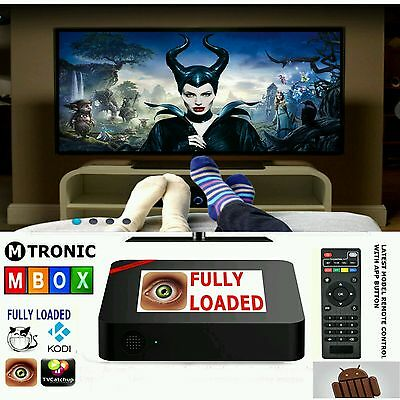 Tv Box M9-T95N All Channels Included Loaded Apps Android Kodi Core Movies Sports