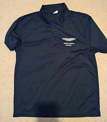 GENUINE 2016 ASTON MARTIN RACING TOTAL Le MANS TRAVEL POLO Size = Large EX CREW
