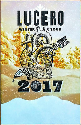 LUCERO Winter Tour 2017 Ltd Ed RARE New Poster +FREE Folk Punk Rock  Poster!