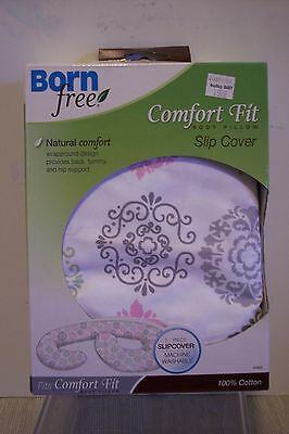 Born Free Comfort Fit Body Pilllow SLIP COVER  Scroll Medallion Design
