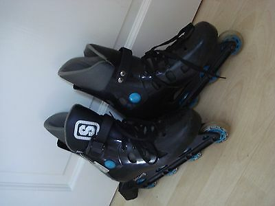 Inline Sports Skaight Skates Black Adjustable Adult size 4 / 5