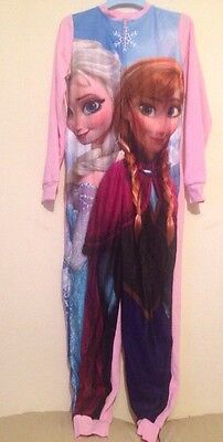 Disney Frozen Girls All in One Fleece Sleepsuit Pyjamas  2-14