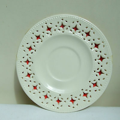 """Leeds Pottery Creamware Reticulated Plate Saucer 5.25"""""""