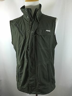 Columbia Omni-shade Vented Men's L Large Gray Outdoors Full Zip Vest Jacket