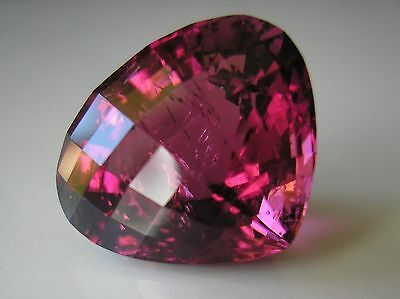 Exceptional! 11.75 Carat Very Fine Pinkish-Red Natural Rubellite Tourmaline