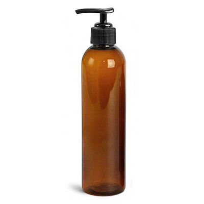 NEW! 8oz EMPTY MASSAGE OIL/LOTION BOTTLE WITH BLACK PUMP FOR OIL HOLSTERS