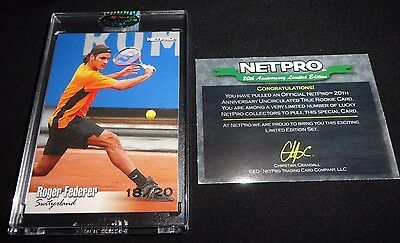 2011 Netpro 20th Anniversary Uncirculated 2003 Buyback /20 Roger Federer Rookie