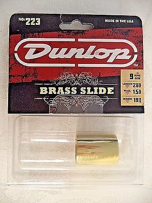 Dunlop 223 Brass Slide Medium Knuckle Medium Wall NEW
