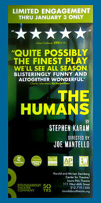 The Humans # 2 Collectible Broadway Show Flyer New