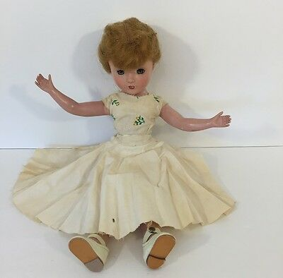 """Vintage Composition Teenage Doll Handmade Clothes Approx 14"""" Working Sleep Eyes"""
