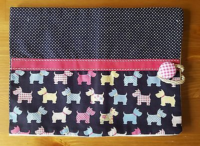 Handmade Baby Health Record Book Cover for the Red NHS Book-Scotty Dogs