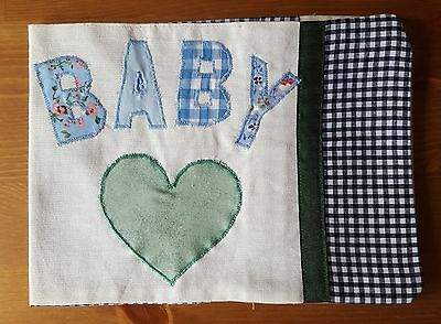 Handmade Baby Health Record Book Cover for the Red NHS Book-Baby Green