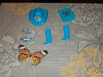 Western Stamping Fun Barbie doll hat boots stamper & ink pad lot