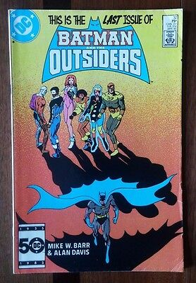 Batman and the Outsiders #32 DC Comic ~F Last Batman Issue