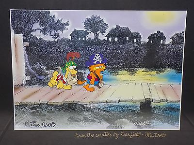 Garfield animation production cel Halloween Special signed by Jim Davis 6