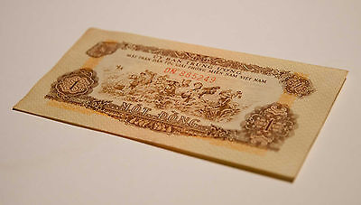 South Vietnam Paper Money 1 Dong P-R4 XF/AU Transitional Currency Viet Cong