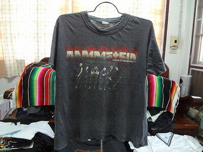 RAMMSTEIN t shirt Vintage Industrial Heavy Metal Music Tour concert Size XL