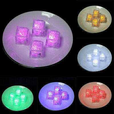 New Home Decorative LED Glow Light Up Ice Cubes Rocks Party Wedding Favor Fun