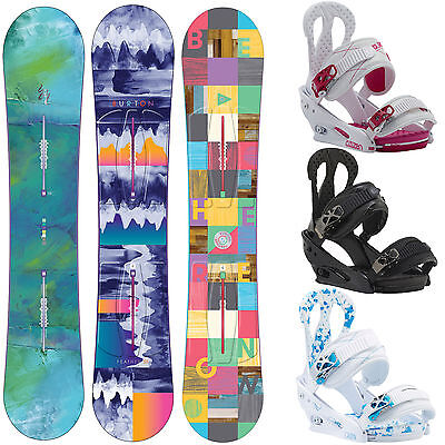 Burton Snowboard set ICS Feather Snowboard + Citizen Binding Damen-Snowboard