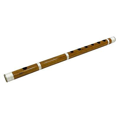 Traditional Indian Handmade Brown Wooden Bansuri Musical Instrument Bamboo Flute