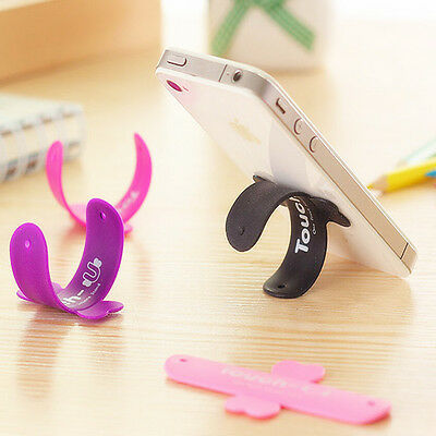 3/6Pcs Touch-U One-touch Silicone Kickstand Holder Stand for Smart Cell Phone
