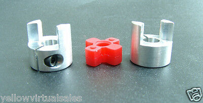 6mm x 9.53mm Flexible Jaw Coupler CNC Shaft Spider Stepper Motor Coupling 3/8""
