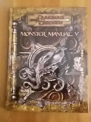 MONSTER MANUAL 5 D&D 3.5 in inglese Dungeons & Dragons manuale dei mostri
