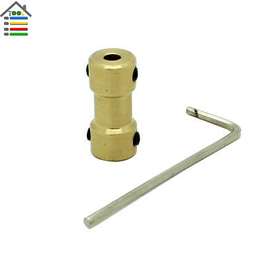 4-3.17mm Motor Copper Shaft Coupling Coupler Gear Transmission RC Airplane Joint