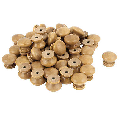 Furniture Drawer Door Cabinet Closet Wood Round Knob Pull Handle 50pcs SP