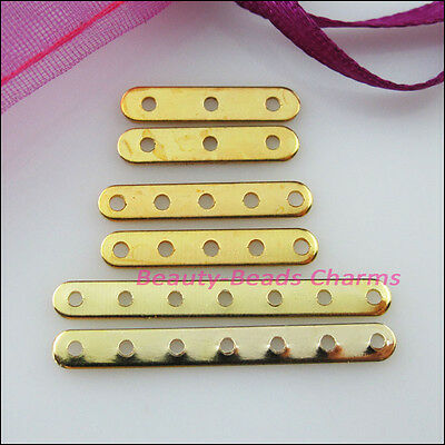 New Connectors Flat Spacer Bars Gold Plated 3-Strand 5-Strand 7-Strand Findings