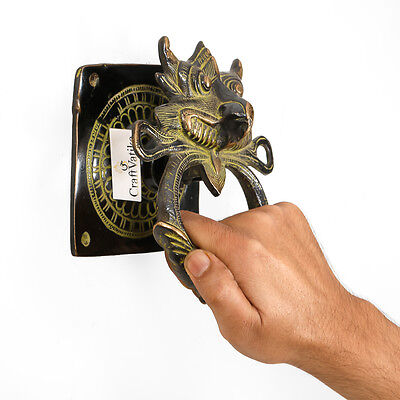 Mahakala Mask Brass Door Knocker Antique Art Vintage Style Hand Made Door Handle