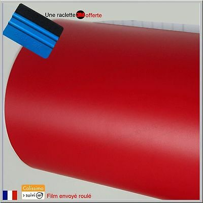 film vinyle mat rouge thermoformable adhésif sticker covering 152 cm x 100 cm