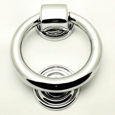 Contemporary Polished Chrome 100mm Ring Door Knocker Fast & Free