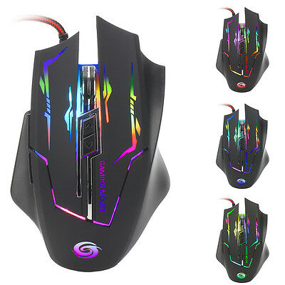 Wired 3200 DPI Optical LED Gaming Mouse USB Mice For Gamer PC Laptop Computer