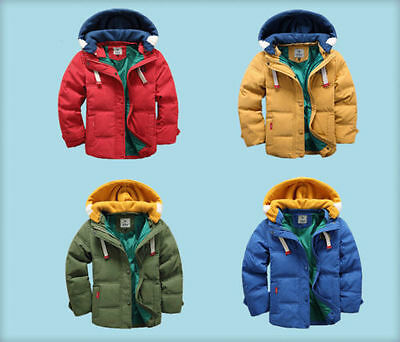 Kids Boys Down Jacket for Winter Clothes Christmas Hooded Children Warm Coats++