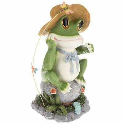 Female Frog with Dragonflies (Polyresin)  Flower and Fairy Gardens Decor