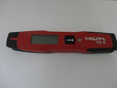 NICE USED CONDITION HILTI PD5 LASER range meter PD 5 NO POUCH