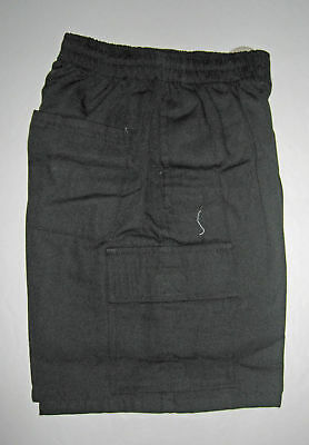 NEW school uniform Cargo shorts pant Black size 5,6,8,10,12,14,16
