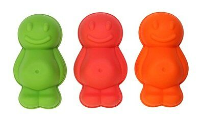 Swift Set of 3 Jelly Baby Shape Moulds Blancmanges Ice Cream Cake Children Party