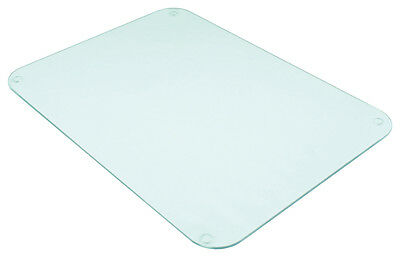 Tuftop Clear Worktop Saver 40x30cm Protect Chopping Board Trivet Textured Glass